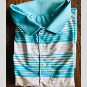 Puma XL teal golf shirt